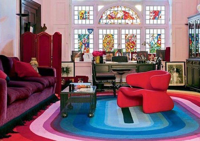 blog idee decoration quotidien couleur original rose rouge multicolore salon séjour vintage rétro
