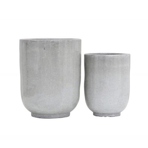 cache pot plantes depolluantes interieur béton ciment épuré style minimaliste