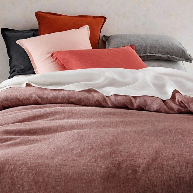 collection iconique la redoute parure de lit en lin lavé intemporel