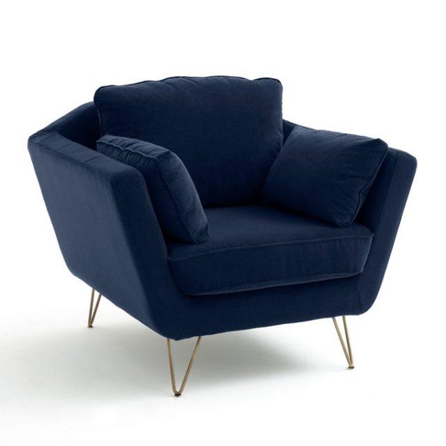 collection iconique la redoute fauteuil confortable bleu nuit