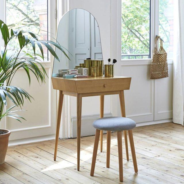 collection iconique la redoute jolie coiffeuse en bois forme gain de place