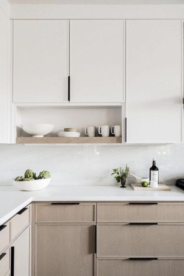 cuisine lumiere naturelle couleur meuble blanc et bois clarté