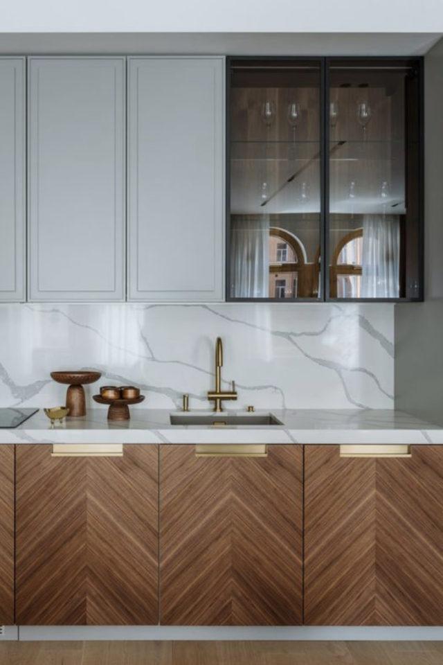 cuisine vitre transparence lumiere naturelle vitrine murale meuble moderne contemporain