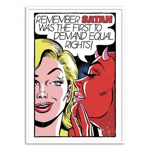 culture pop affiche poster decoration bande dessine satan droit des femmes