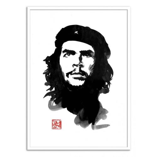 culture pop affiche poster decoration portrait noir et blanc che