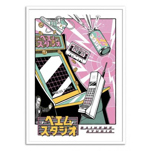 culture pop affiche poster decoration années 90 rétro illustration