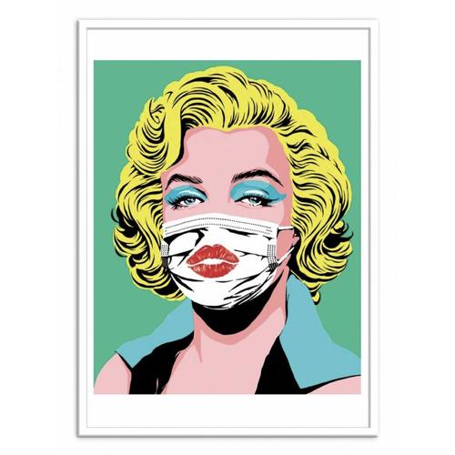 culture pop affiche poster decoration marylin masque popart