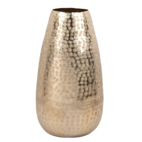 deco et meuble entree elegante vase or doré laiton raffiné