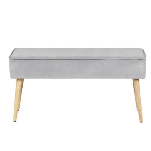 deco et meuble entree elegante banc style scandinave gris et bois