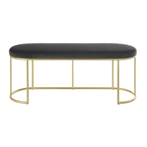 deco et meuble entree elegante banc art nouveau art déco laiton et velours