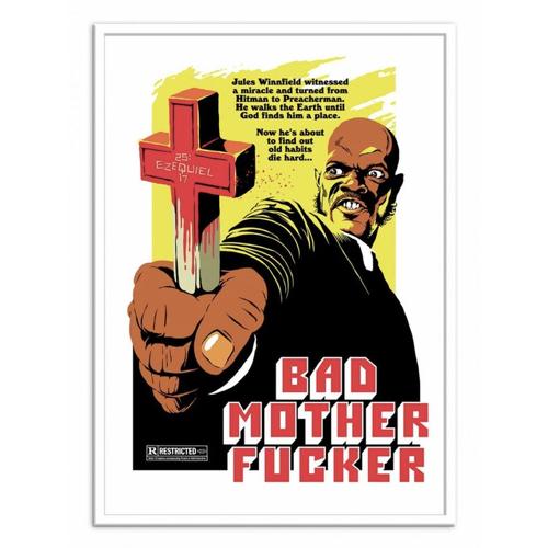 deco poster affiche film serie rock pulp fiction citation Samuel L Jackson