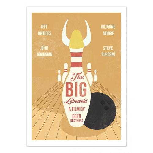 deco poster affiche film serie rock big lebowski bowling