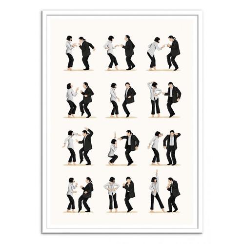 deco poster affiche film serie rock danse mia pulp fiction
