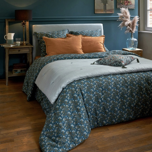 deco textile lin lave tendance linge de lit édredon