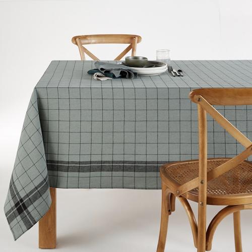 deco textile lin lave tendance nappe à carreaux moderne