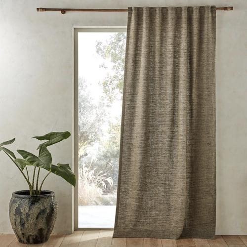 deco textile lin lave tendance rideau plissé couleur beige écru neutre