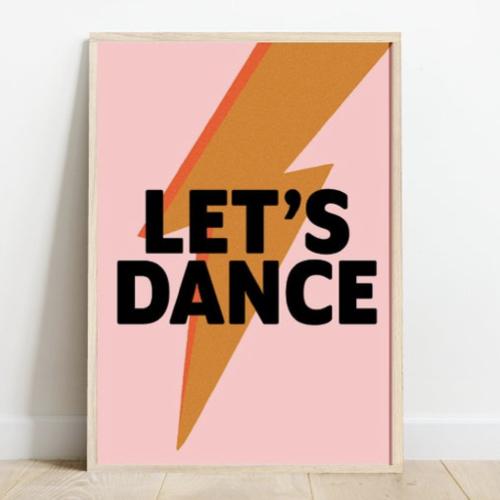 decoration affiche poster musique rock lets dance bowie