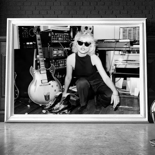 decoration affiche poster musique rock phoyo portrait blondie noir et blanc