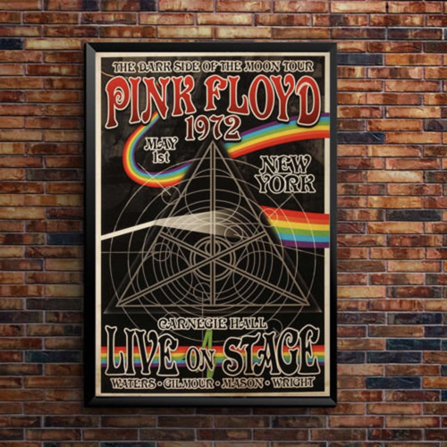 decoration affiche poster musique rock concert pink floyd