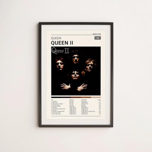 decoration affiche poster musique rock queen pochette album vinyle