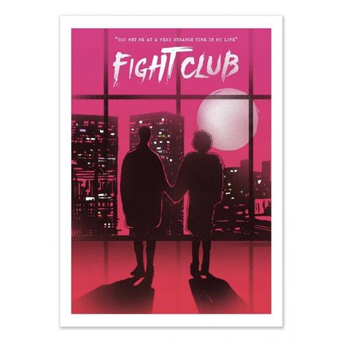 decoration decale affiche alternative poster affiche fight club
