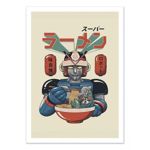 decoration decale affiche alternative poster robot culture asiatique