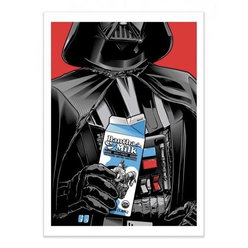 decoration decale affiche alternative poster Dark Vador produit laitier
