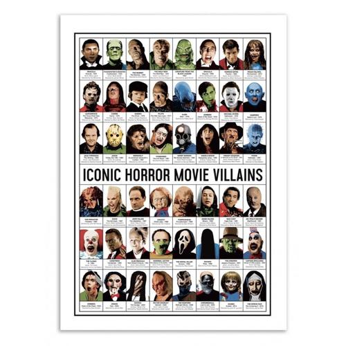 decoration decale affiche alternative poster méchants dans les films liste