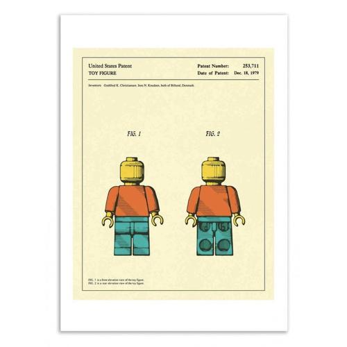 decoration decale affiche alternative poster bonhomme lego effet vintage