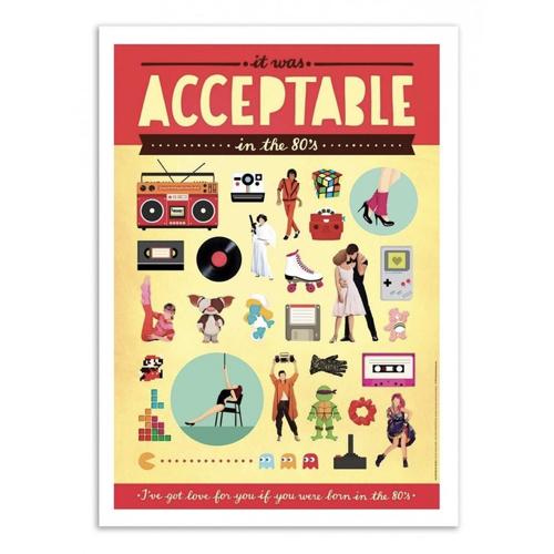 decoration decale affiche alternative poster vintage années 80 souvenirs