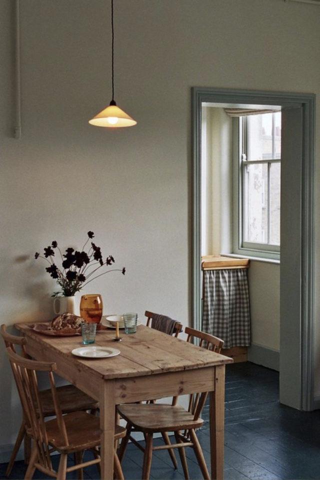 exemple coin repas choix table rectangulaire contre un mur 2 à 4 personnes