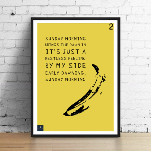 interieur rock poster musique parole sunday morning velvet underground nico lou reed