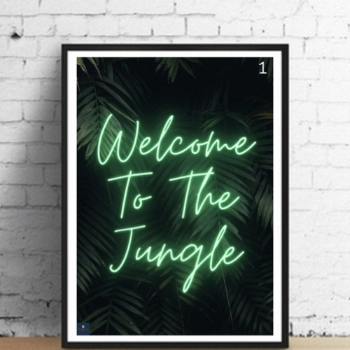 interieur rock poster musique gun's and roses welcome to the jungle