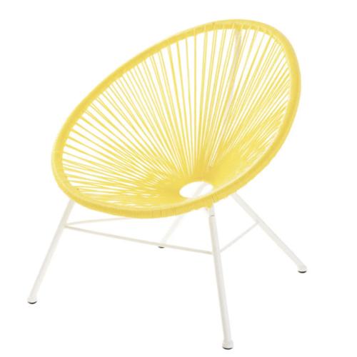 jaune chambre enfant decoration fauteuil filaire déco moderne