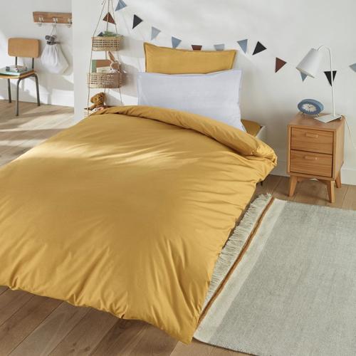jaune chambre enfant decoration housse de couette parure de lit 1 place