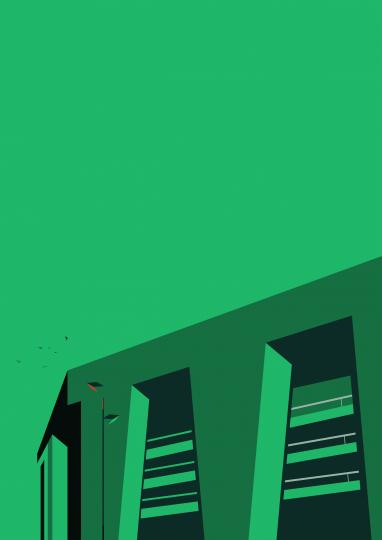 maison transversale decoration sport architecture stade de foot affiche