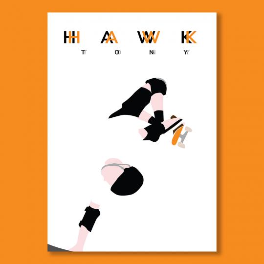 maison transversale decoration sport affiche poster illustration Tony Hawk Skate