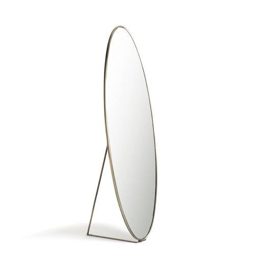 meuble deco entree elegante psyché ovale bord laiton moderne épuré