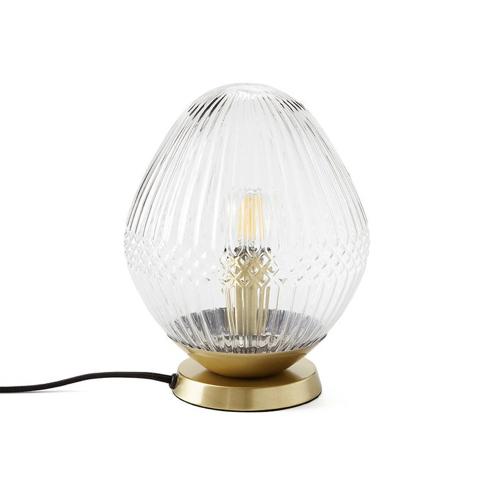 meuble deco entree elegante lampe à poser élégante verre et laiton
