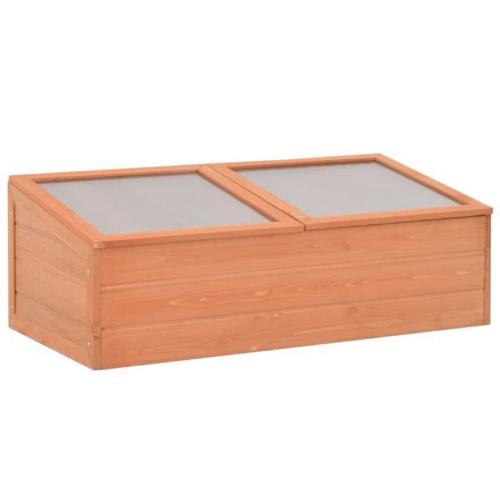 mini serre decoration plante interieure coffre en bois petite taille