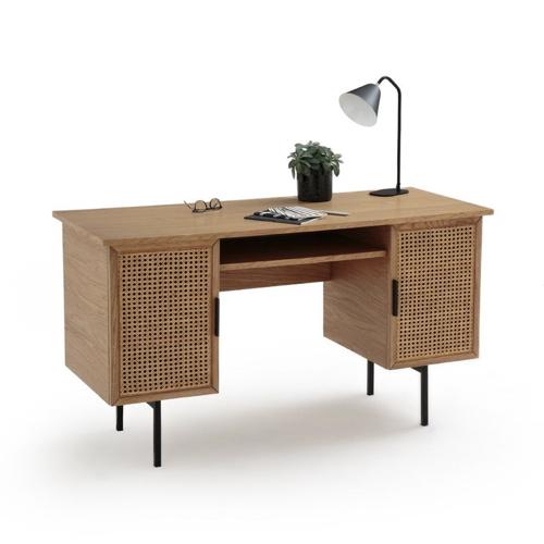 modele bureau salon exemple bois tendance cannage moderne
