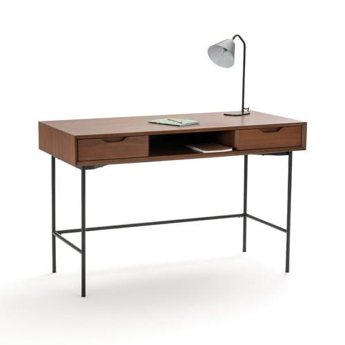 modele bureau salon exemple bois et métal peu encombrant style vintage