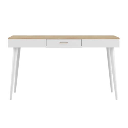 modele bureau salon exemple blanc discret simple peu encombrant