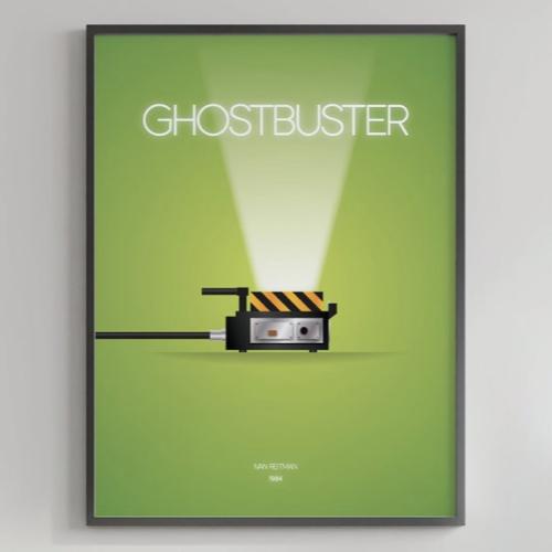 ou trouver affiche film deco cine sos fantome fond vert minimaliste