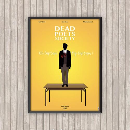 ou trouver affiche film deco cine le cercle des poetes disparus illustration minimaliste