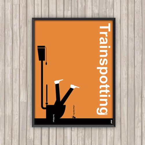 ou trouver affiche film deco cine Trainspotting Toilette orange