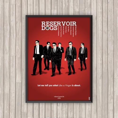 ou trouver affiche film deco cine réservoir dogs illustration minimaliste rouge