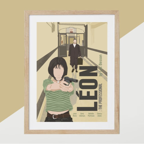ou trouver affiche film deco cine leon années 90 illustration