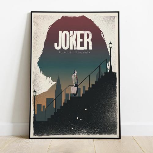 ou trouver affiche film deco cine joker moderne illustration escalier