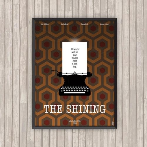 ou trouver affiche film deco cine shinning machine à écrire papier peint